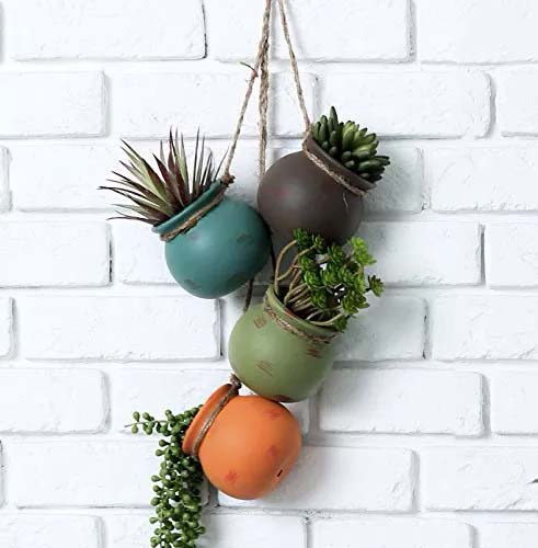 Miniature Planters to be Used as Fence Planters #fenceplanters #homedecorimage