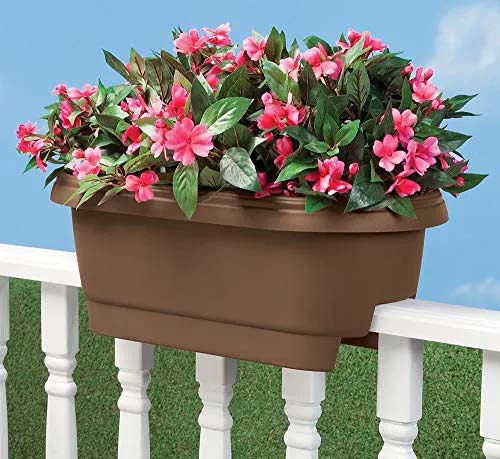 Rail Planters for the Balcony or the Porch #fenceplanters #homedecorimage