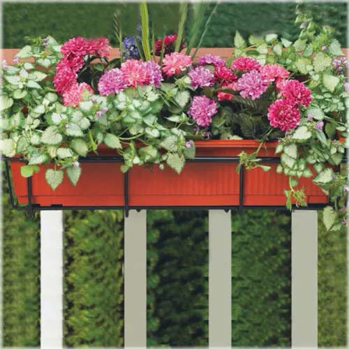 Standard Colorful Container for a Window or a Fence #fenceplanters #homedecorimage