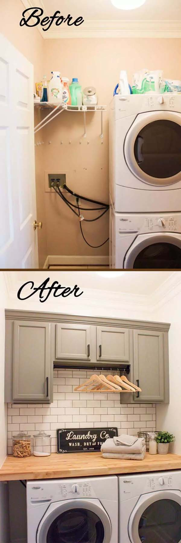 More Wood and Charm in the Laundry Room #laundryroom #makeover #homedecorimage